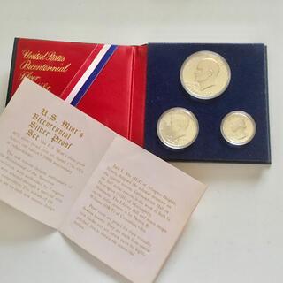 アメリカ建国200周年記念 プルーフ銀貨 3点セット(その他)