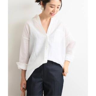IENA - 最安値 美品 フレンチリネンオーバーシャツ IENA イエナ ホワイト