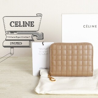 セリーヌ(celine)の未使用 CELINE セリーヌ Cチャーム キルティング ラウンド 財布(財布)