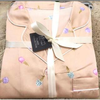 ジーユー(GU)のGU サテンパジャマ(半袖&ショートパンツ)(アイスクリーム)(パジャマ)