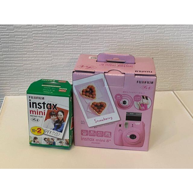 富士フイルム(フジフイルム)のインスタントカメラ チェキ instax mini8+ フィルム付き スマホ/家電/カメラのカメラ(フィルムカメラ)の商品写真
