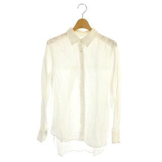 フレームワーク(FRAMeWORK)のフレームワーク 18SS リネンシャツ ブラウス 長袖 36 白 ホワイト(その他)
