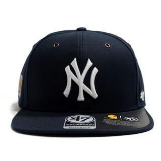 carhartt - カーハート×'47★ネイビー NY ニューヨークヤンキース キャップ 帽子