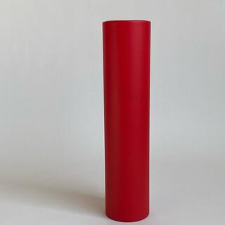 漆器 つや消し赤 マット赤 花瓶 筒 フラワーベース 花生け 塗りもの