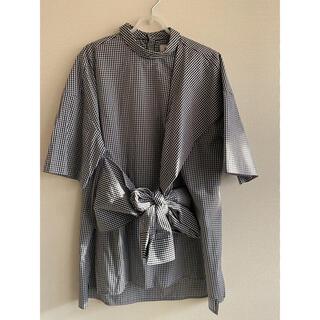 エンフォルド(ENFOLD)の★新品タグ付き★ENFOLD リボンシャツ(シャツ/ブラウス(半袖/袖なし))