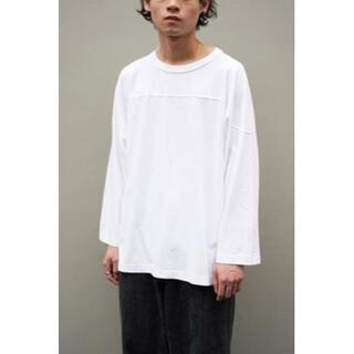 COMOLI -  COMOLI  フットボールTシャツ ホワイト 新品未使用