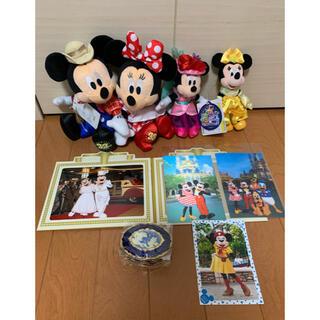 Disney - TDS ホテルミラコスタ 非売品 小物入れ ミニーちゃん ぬいぐるみバッジ