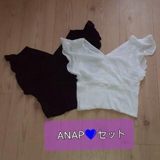 アナップ(ANAP)のANAP 💜トップス 2点セット(シャツ/ブラウス(半袖/袖なし))