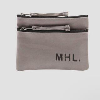 マーガレットハウエル(MARGARET HOWELL)の即購入ok 新品未使用 MHL. コットンキャンバス ポーチ グレー(ポーチ)