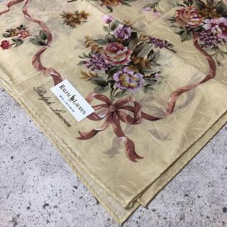 ラルフローレン(Ralph Lauren)のRALAPH LAUREN 大判ハンカチ スカーフ新品 花柄(バンダナ/スカーフ)