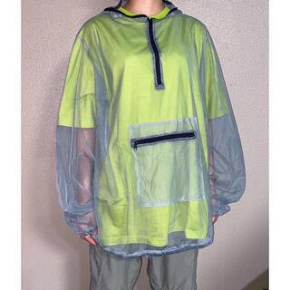 コムデギャルソン(COMME des GARCONS)のdead stock シースルー シアーシャツ メッシュ モスキートパーカー(ナイロンジャケット)