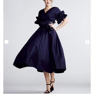 DOUBLE STANDARD CLOTHING - 新品タグ付 ダブスタ Sov.カシュクール ワンピース フリル 今期