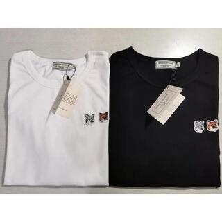 メゾンキツネ(MAISON KITSUNE')の即決歓迎!!2枚Lサイズ MAISON KITSUNE キツネ  Tシャツ(Tシャツ/カットソー(半袖/袖なし))