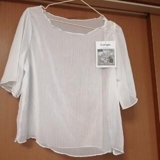 しまむら - 新品☆半袖メロウシアートップス Lサイズ ホワイト 白