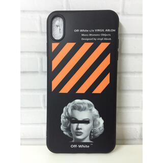 OFF-WHITE - お洒落なデザイン  オフホワイト  iPhoneケース XS MAX用
