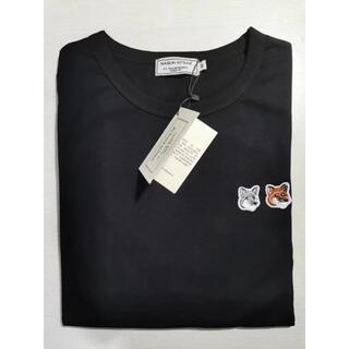 メゾンキツネ(MAISON KITSUNE')の即決歓迎!!Lサイズ MAISON KITSUNE キツネ  Tシャツ(Tシャツ/カットソー(半袖/袖なし))
