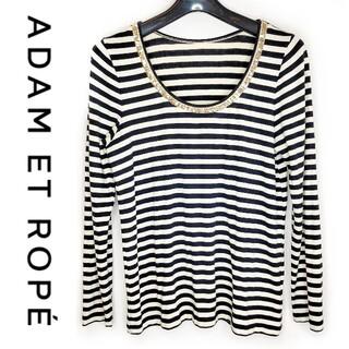 Adam et Rope' - ADAM ET ROPE' ボーダー カットソー スパンコール