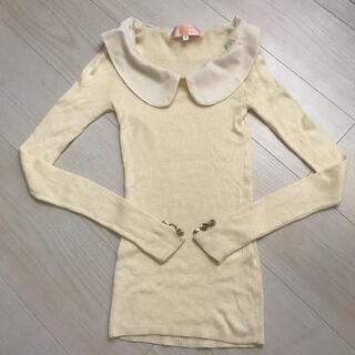 ミニマム(MINIMUM)のMINIMUM MINIMUM 付け襟付きニット(ニット/セーター)