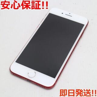 アイフォーン(iPhone)の美品 SIMフリー iPhone7 128GB レッド (スマートフォン本体)