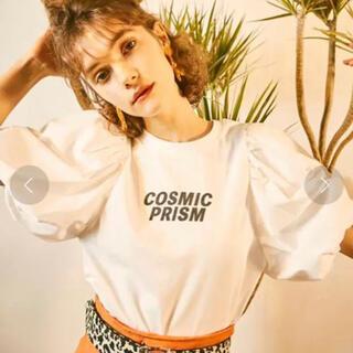 リリーブラウン(Lily Brown)のLilyBrown ボリューム袖Tシャツ 白(Tシャツ(半袖/袖なし))