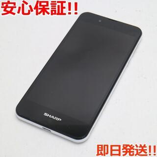 アクオス(AQUOS)の美品 SIMフリー AQUOS SH-M04 ホワイト (スマートフォン本体)
