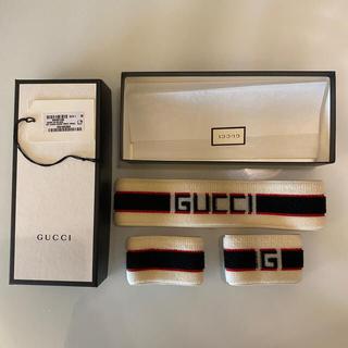 グッチ(Gucci)のGucci ヘアバンド リストバンドセット(バングル/リストバンド)