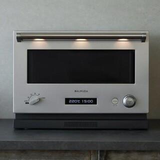 バルミューダ(BALMUDA)のBALMUDA バルミューダ デザイン オーブンレンジ K04A-SU シルバー(電子レンジ)