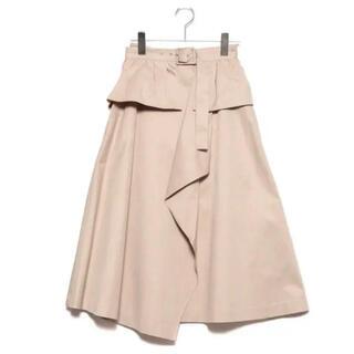 リリーブラウン(Lily Brown)のLilyBrown ベルト付きトレンチスカート ベージュ(ロングスカート)