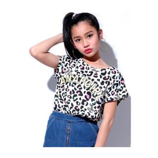 アナップキッズ(ANAP Kids)のANAP GiRL マルチレオパード柄トップス ホワイト 160cm(Tシャツ/カットソー)