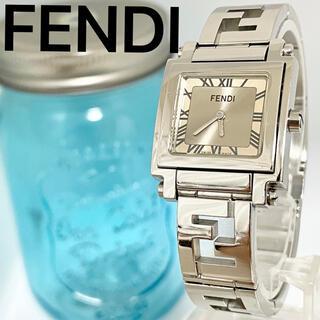 FENDI - 1 FENDI フェンディ時計 レディース腕時計 スクエア ズッカ柄 シルバー