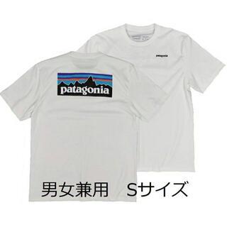patagonia - パタゴニアTシャツ 白 S ベストセラー アウトドア キャンプ マリン