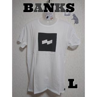 Ron Herman - 【L】BANKSFLAG LOGO TEE 半袖Tシャツ(ホワイト)