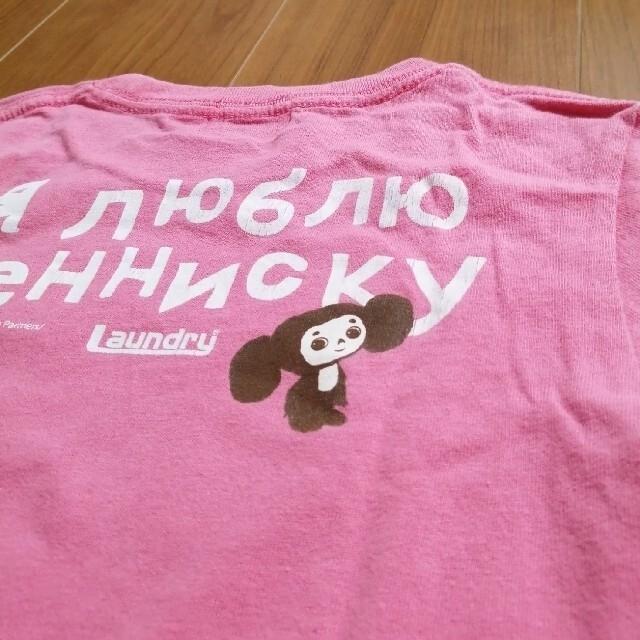 LAUNDRY(ランドリー)の☆レア Laundry チェブラーシカ Tシャツ M ピンク キッズ/ベビー/マタニティのキッズ服男の子用(90cm~)(Tシャツ/カットソー)の商品写真