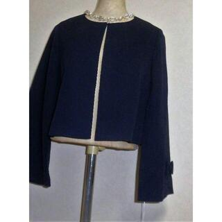 GALLERY VISCONTI - 新品 定価15290円 ギャラリービスコンティお袖リボンお上品ジャケット2掲載紺