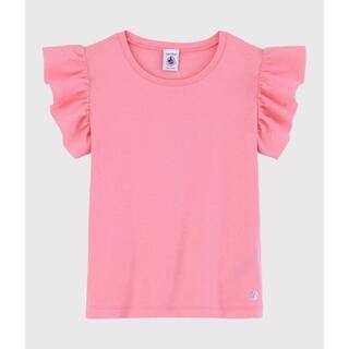 PETIT BATEAU - 新品未使用 プチバトー 5a フリル袖半袖カットソー ピンク