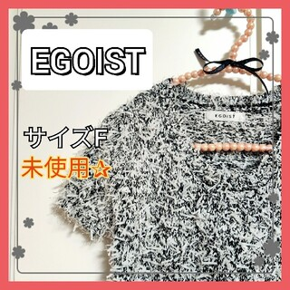EGOIST - エゴイスト EGOIST ファンシーヤーン ニット トップス 半袖 ニット秋 F