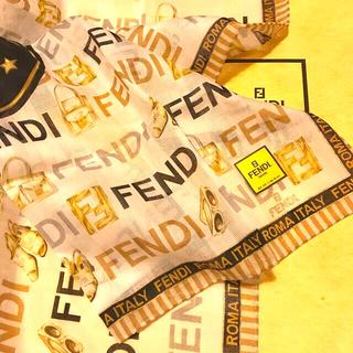 フェンディ(FENDI)の未使用 フェンディ ハンカチスカーフ   ビッグズッカ pretty looks(ハンカチ)