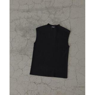 ENFOLD - RIM.ARK  Basic no sleeve knit tops グレー