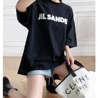 Jil Sander - Mサイズ ジルサンダーオーバーサイズ ロゴ Tシャツ