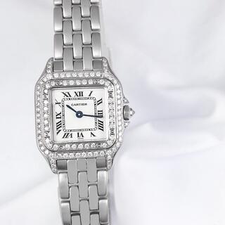 カルティエ(Cartier)の【仕上済】カルティエ パンテール SM シルバー ダイヤ レディース 腕時計(腕時計)