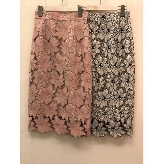 ジャスグリッティー(JUSGLITTY)のJUSGLITTY 配色レースタイトスカート(ひざ丈スカート)