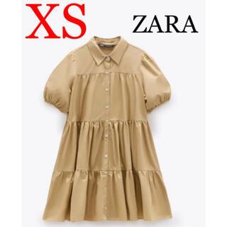 ZARA - タグ付き未使用☆ZARA ザラ☆ワンピース ティアードワンピース☆XS