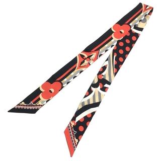 ルイヴィトン(LOUIS VUITTON)の美品 ルイヴィトン M76187 ポップ モノグラム バンドーBB ブラック系(バンダナ/スカーフ)