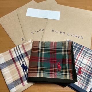 ラルフローレン(Ralph Lauren)のラルフローレン ミニタオル3枚セット紙袋3枚セット(ハンカチ)