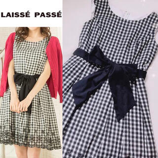 レッセパッセ(LAISSE PASSE)の【今季】レッセパッセ ワンピース 小さいサイズ 35 SS リランドチュール(ひざ丈ワンピース)