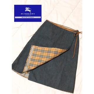 BURBERRY BLUE LABEL - BURBERRY BLUE LABEL バーバリーブルーレーベル 巻きスカート
