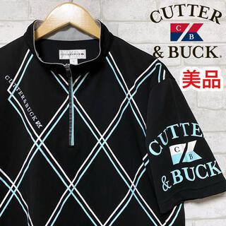 カッターアンドバック(CUTTER & BUCK)の☆美品☆ CUTTER&BUCK カッターアンドバック ハーフジップ ダイヤ柄(ウエア)