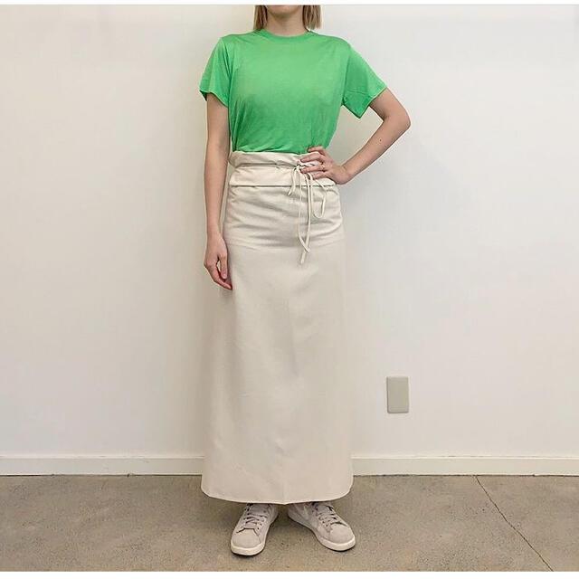 Ron Herman(ロンハーマン)の新品未使用タグ付 BASERANGE LOOSE Tシャツ  グリーン Sサイズ レディースのトップス(Tシャツ(半袖/袖なし))の商品写真