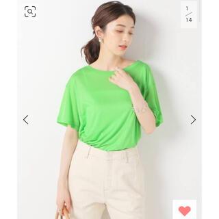 Ron Herman - 新品未使用タグ付 BASERANGE LOOSE Tシャツ  グリーン Sサイズ