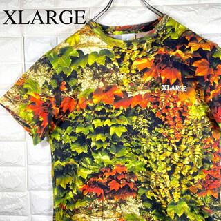 XLARGE - 美品 XLARGE リーフプリント アート調 総柄 マルチカラー 半袖シャツ